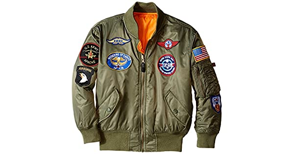 Amazon.com: Chaqueta de bombardero MA-1 de Alpha Industries ...