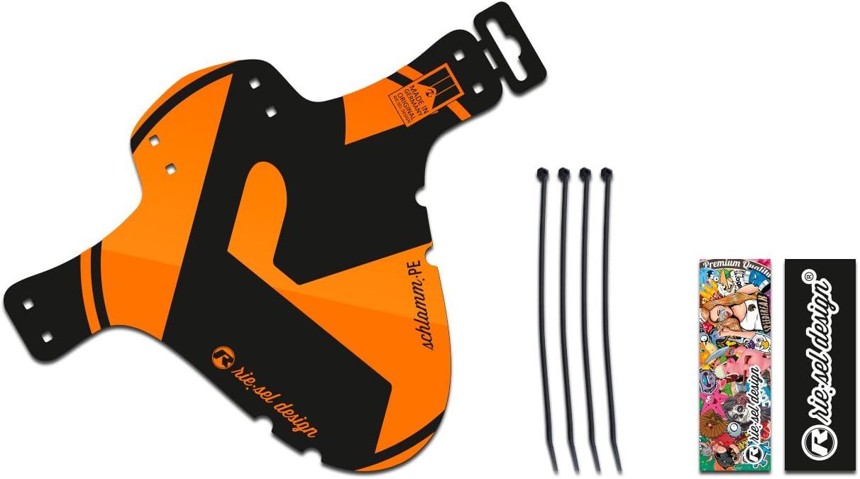 Riesel Design Schlamm:PE 4 cintas sujetacables 3 pegatinas guardabarros Mudguard delante Mtb-2018