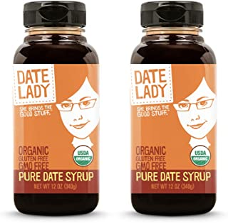 product image for Award Winning Date Lady Organic Date Syrup 12 Ounce Squeeze Bottle | Vegan, Paleo, Gluten-free & Kosher (2-Pack)