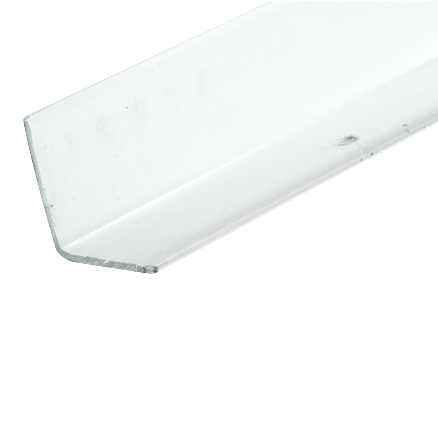 Prime-Line MP10076 Corner Shield With Holes, 1-1/8 in. x 96 in., Vinyl Construction, White, 25 Pack