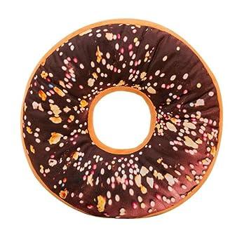 PAOLIAN Almohada De Felpa Suave CojíN De Asiento Relleno De Dulce Donut Funda De CojíN De Juguetes (G)