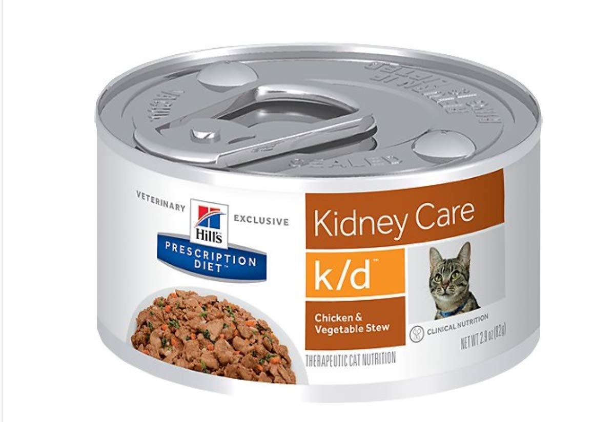 HILLS PRESCRIPTION DIET k/d Feline Renal Health - Chicken & Vegetable Stew - 24x2.9oz