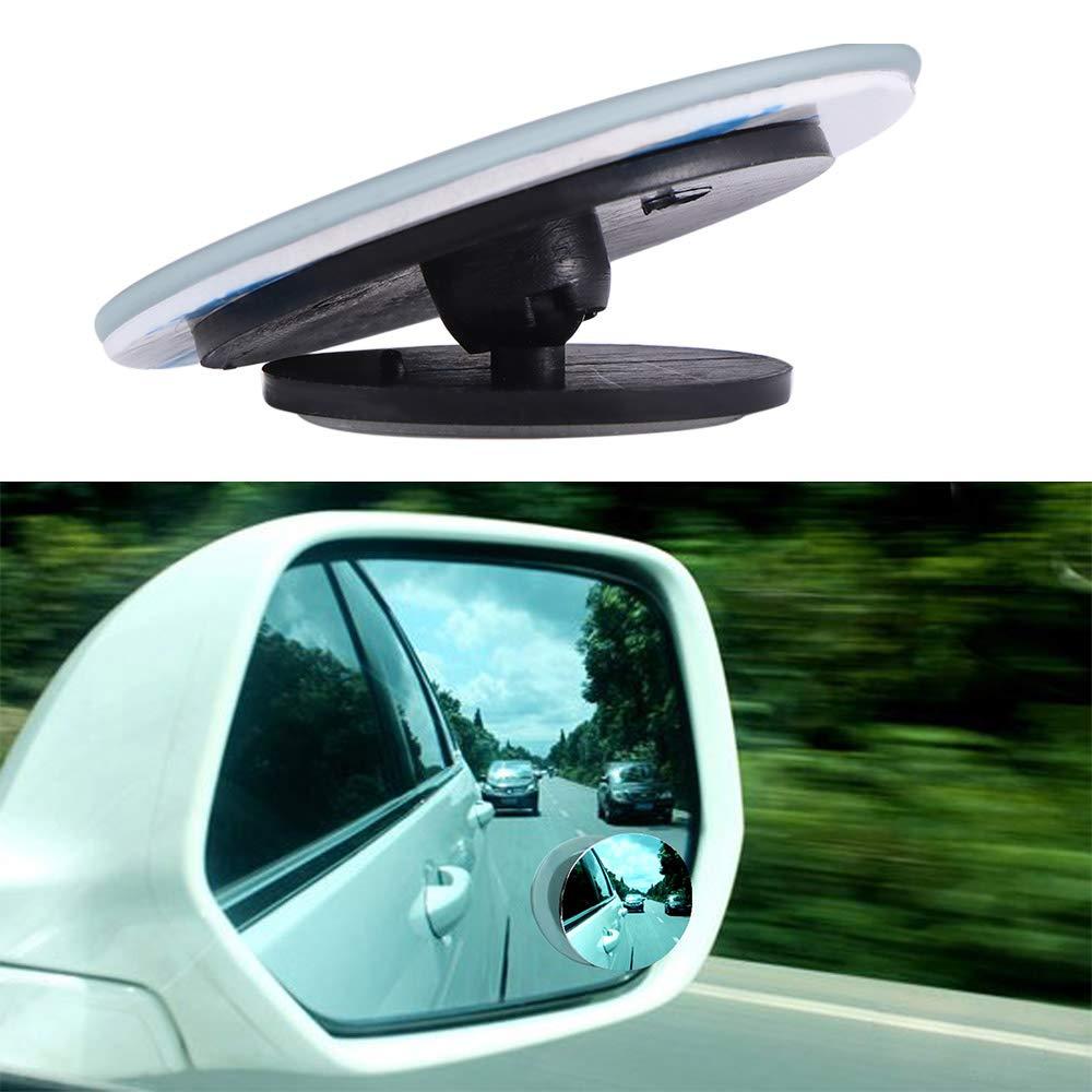 Vvciic Espejo de Punto Ciego para autom/óvil Gran Angular 360 Grados Giratorio Redondo Ajustable de Punto Ciego Espejo Stick en el Espejo retrovisor para Todos los autom/óviles Motocicleta