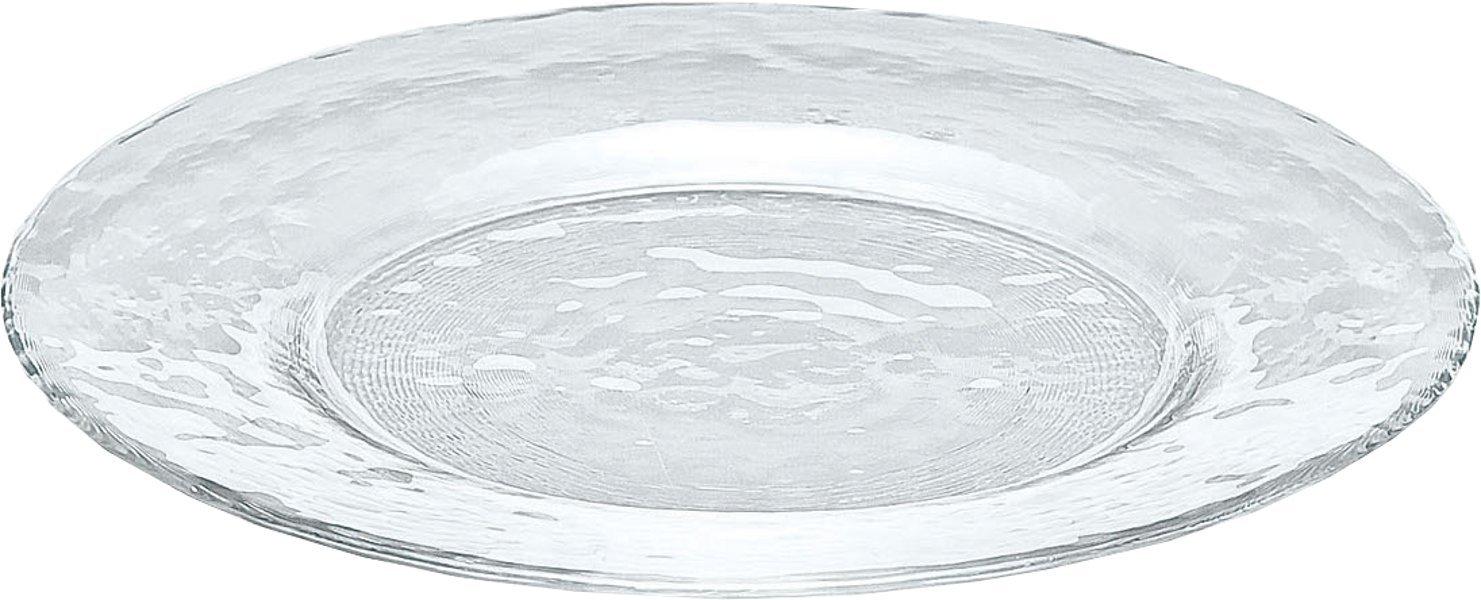 プレート オービット リム付き 270 大皿 ガラス 食洗機対応 φ27cm 46051
