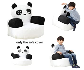 Enjoyable Quwei Childrens Sofa Comfortable Chair Panda Print Bean Bags Gmtry Best Dining Table And Chair Ideas Images Gmtryco