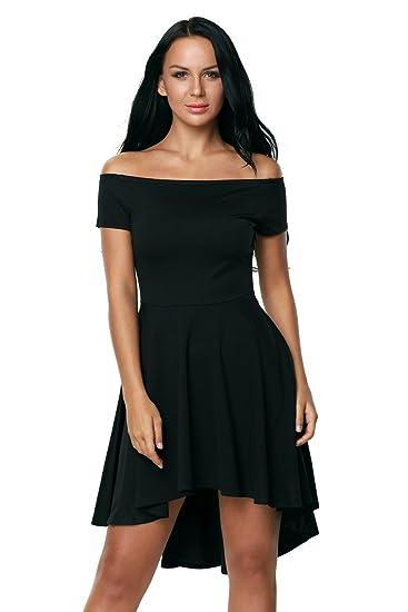 b2c44ab730e9 Betty-Boutique Black All The Rage Skater Dress Size 12  Amazon.co.uk   Clothing