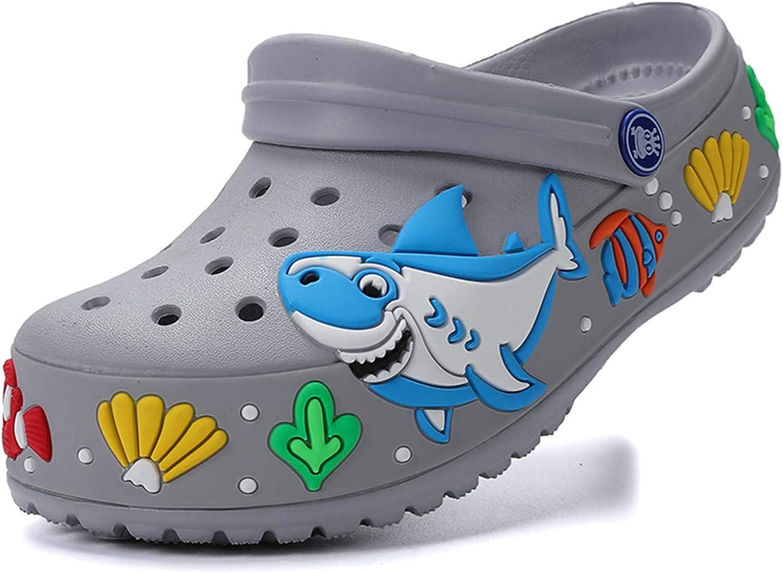atyun Kids Clogs Slippers Sandals Cartoon Slides Non-Slip Girls Boys Cute Garden Shoes Children Lightweight Slip-on Beach Pool Shower Slippers