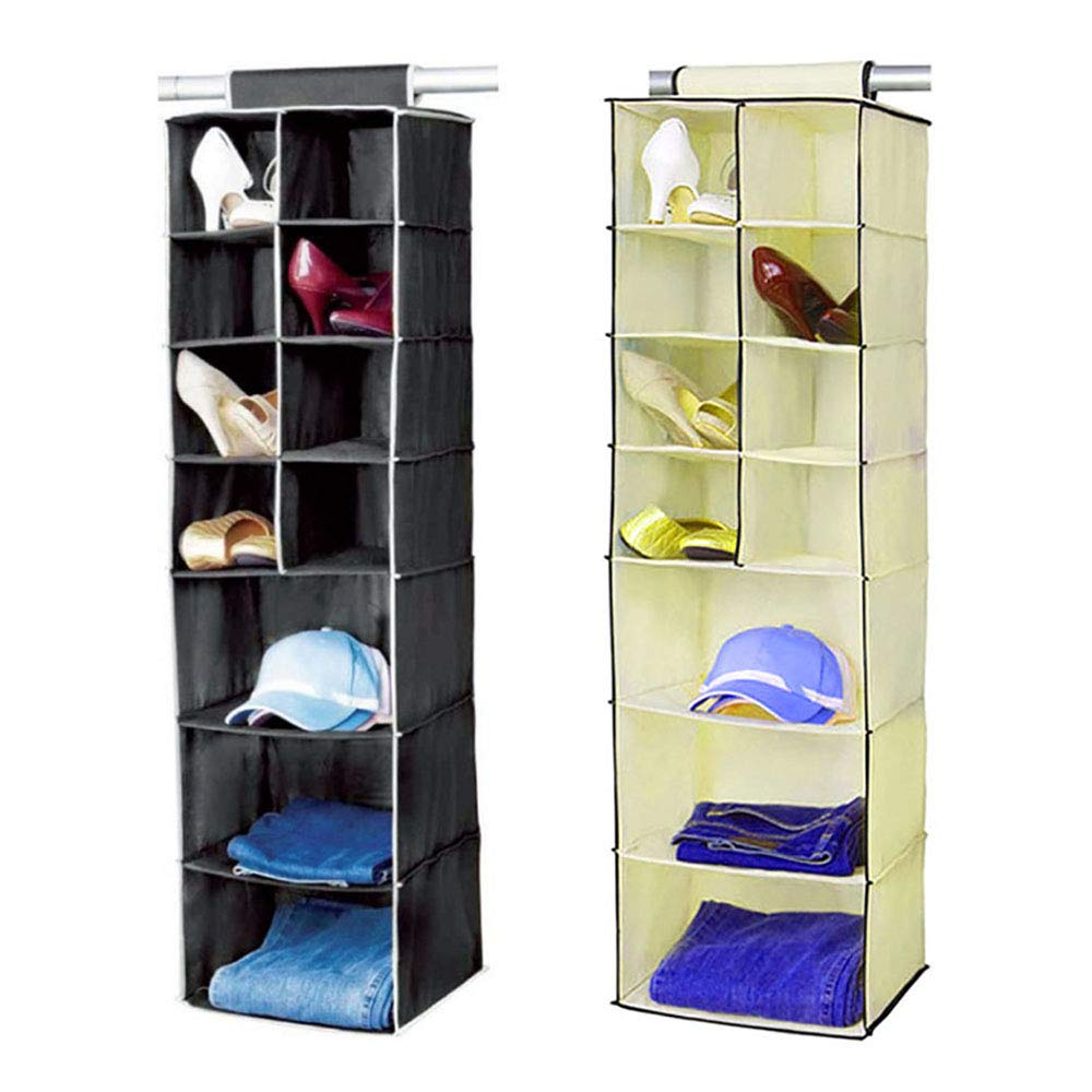 Shoes Hanging Closet Organizer Home Hanging Clothes Storage Box For Clothing Keep Your Bedroom Wardrobe Clean Tidy 10 Section Accessories Sweaters Hanging Shelves
