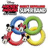 Insect Repelling Disney Superband Wristbands with Mickey and Minnie Mouse Charms - All Natural, Safe, DEET Free (15)
