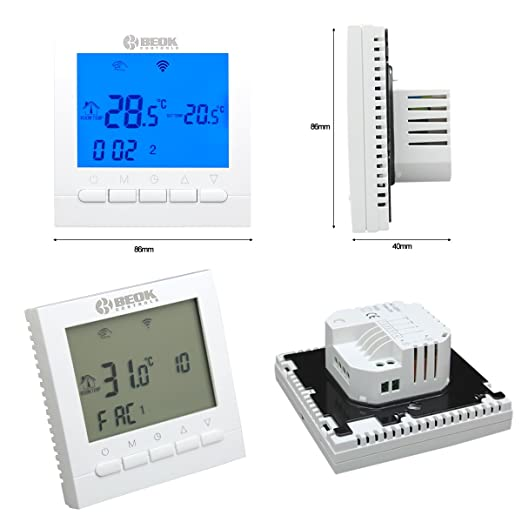 Beok BOT-313WIFI para calderas de gas, WiFi, pantalla LCD, aplicación programable, aplicación gratuita Control remoto en línea a través de teléfono ...