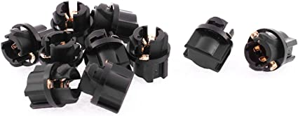 Sourcingmap T5 Socket Portal/ámparas de Bombilla de Salpicadero Casquillo Negro