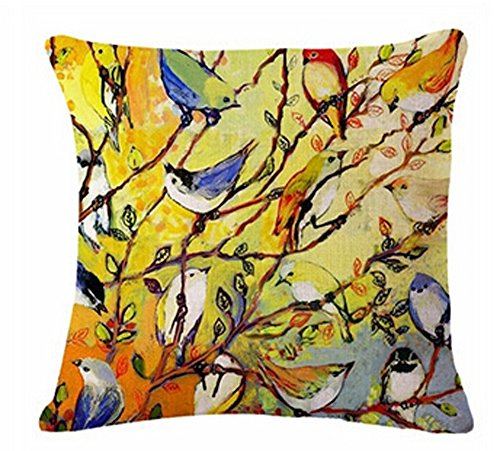 Painting Hundreds Cotton Cushion Decorative