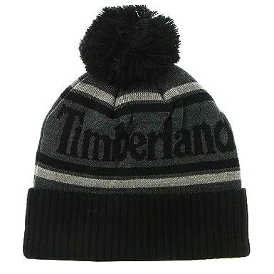 Timberland Men s Logo Cuffed Beanie with Pom 96afc1360a2c