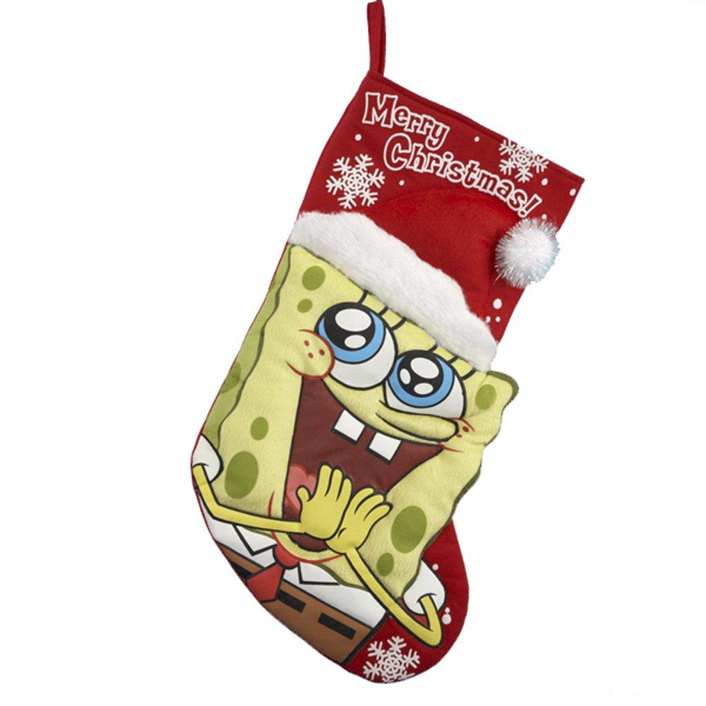 Kurt Adler 19-Inch Spongebob Printed Applique Stocking