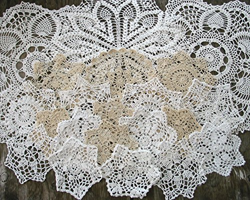 - Set of 21 Hand Crochet Doilies 5