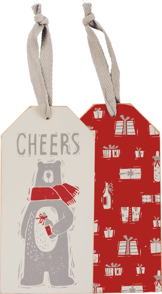 Bottle Tag - Cheers Bear, Set of 3