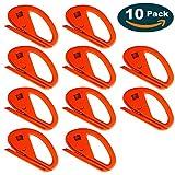 Ehdis Snitty Safety Film Cutter Paper Vinyl Clothing Cutting Car Wrap Cutting Tool Carbon Fiber Cutting Application Knife Zippy - 10 PCS