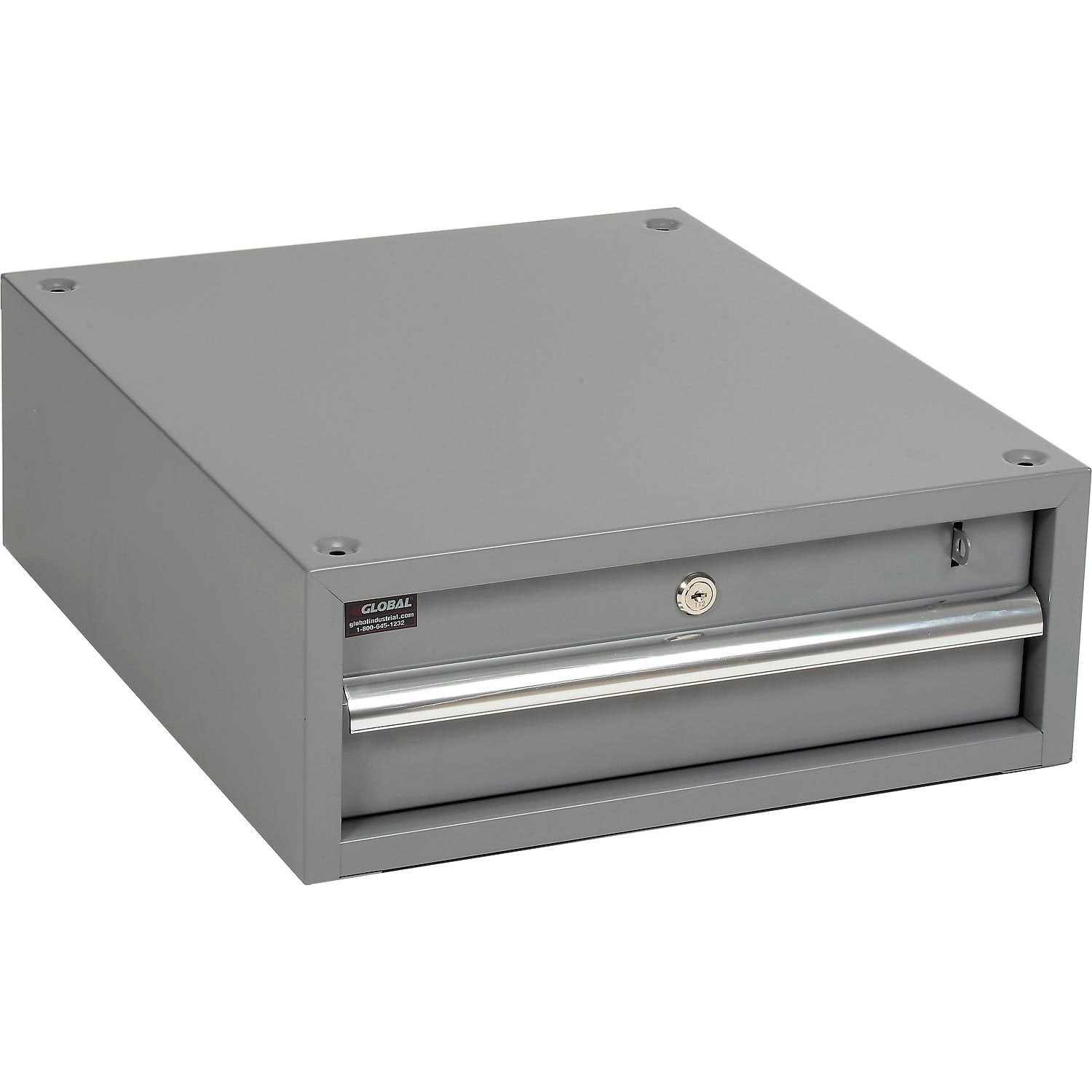 Stacking Workbench Drawer, Gray, 6''H by Global Industrial (Image #1)