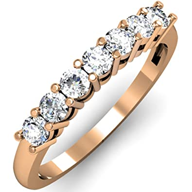 carat gold pid stone graduated white bands diamond fl rings band princess anniversary women
