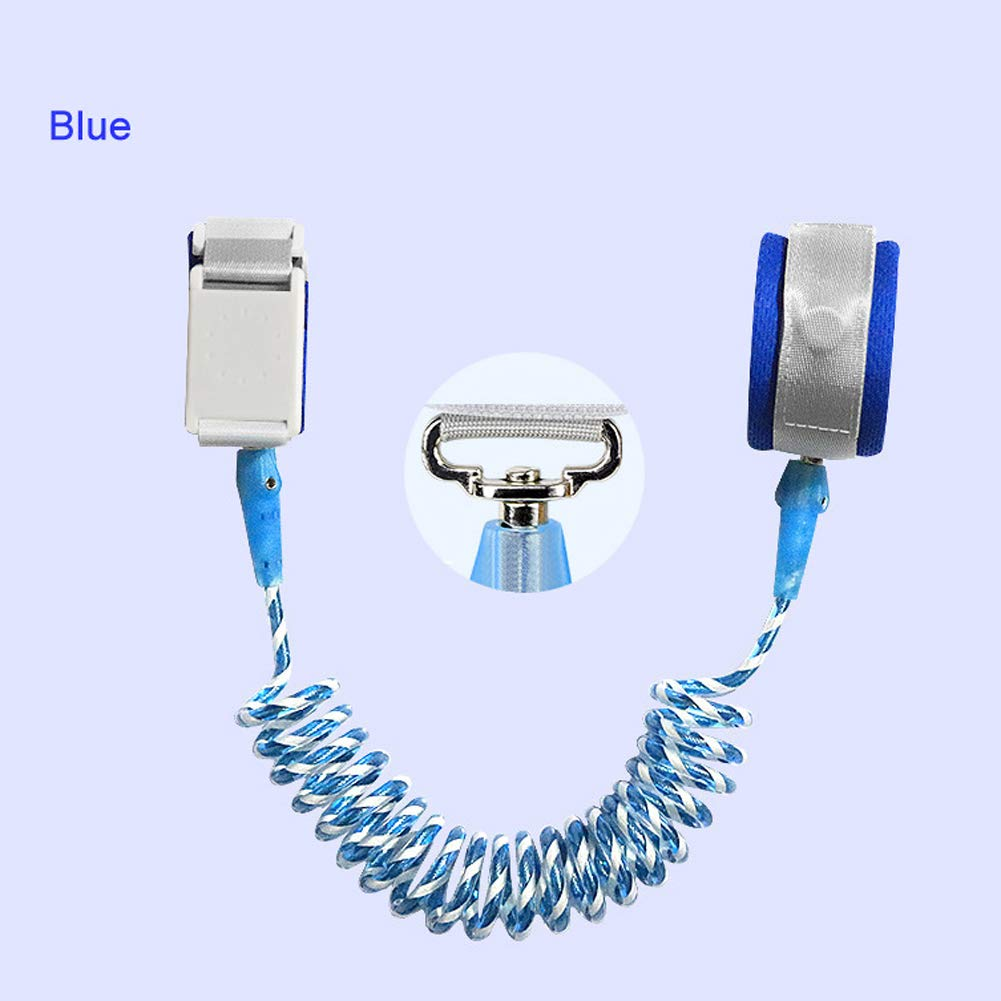 MQC Children's Anti-Lost Rope Baby Anti-Lost with Magnetic Induction Lock Traction Rope Infant Anti-Lost Bracelet,Blue,2.5m