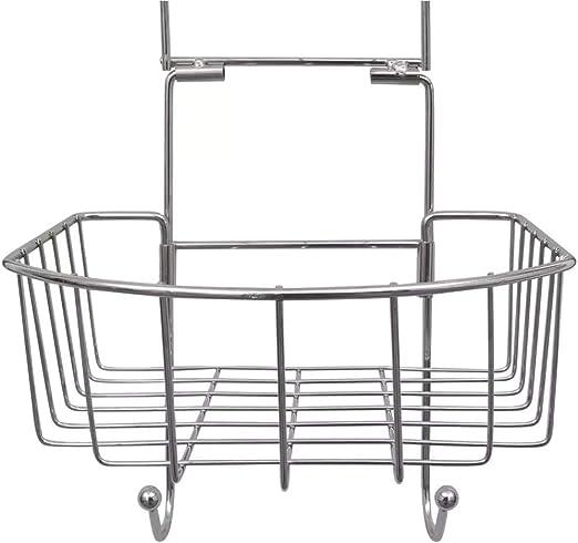 Accesorios de ba/ño Triangulares 2-Tier Organizador con Ganchos Wakects Sin Necesidad de Taladrar Estanter/ía de Esquina para Ba/ño Ducha