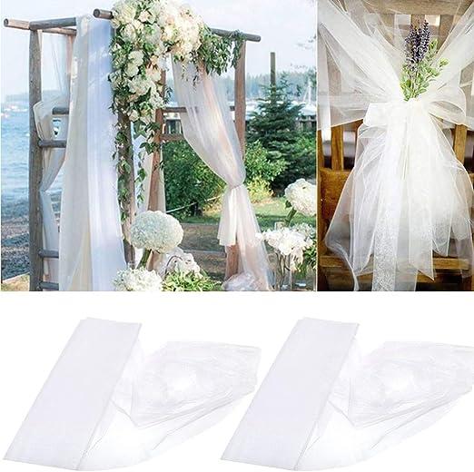 Amycute 5m rollo de tul tejido tul blanco decoración para velo de ...