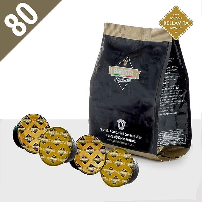 Barista Italiano 80 Dolce Gusto Cápsulas Compatibles (CREMOSO TOP ESPRESSO, 80 Cápsulas, 80