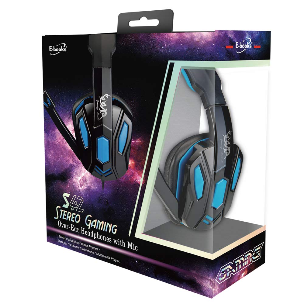 5fe1110c0e6 Amazon.com: S42 Gaming Over-Ear Noise Cancelling Headsets Headphones with Soft  Memory Earmuffs Earcups / Bass Surround / 3.5mm Splitter Cable for PS4,  PSP, ...