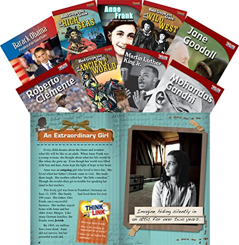 Teacher Created Materials - Classroom Library Collections: Biographies - 9 Book Set - Grades 2-5 - Guided Reading Level M - T ()