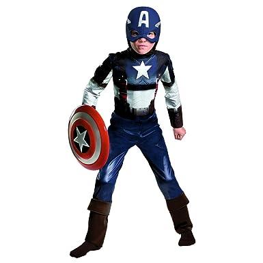 Amazon.com: Capitán América – Disfraz grande: Clothing