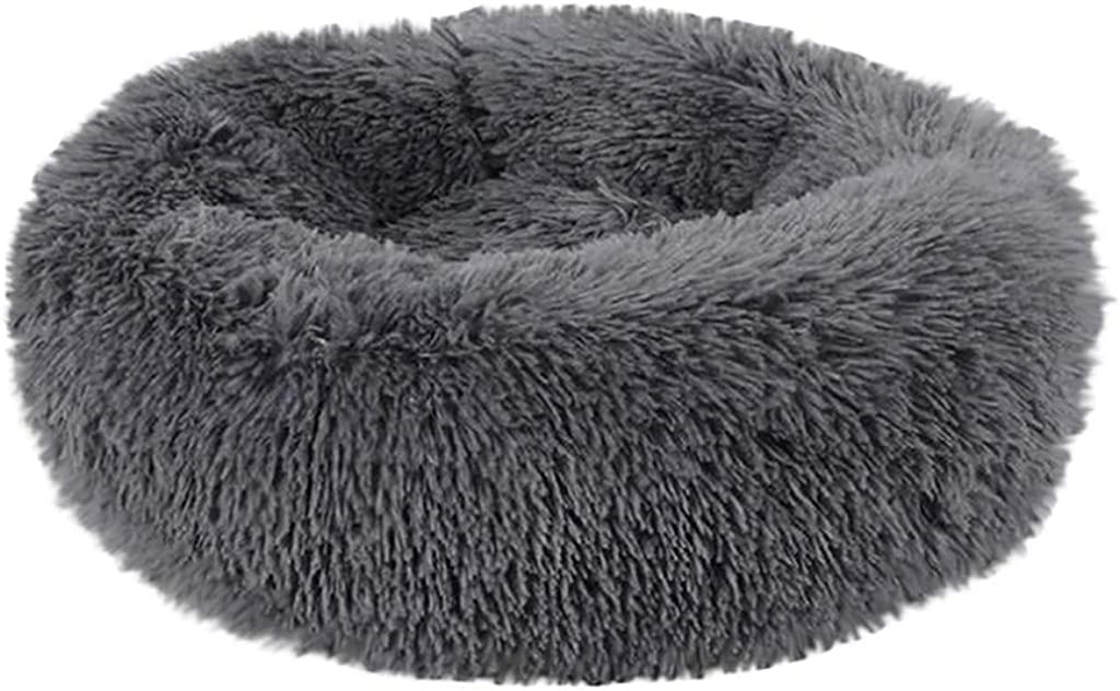 Fluffy Luxe Pet Bed for Dogs & Cats, Anti-Slip, Waterproof Base, Machine Washable, Durable Calming Sleeping Bed