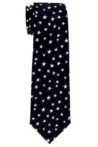 5769a11e7 Retreez - estrellas Tejido microfibra corbata del niño - 8 - 10 años -  Varios colores Negro Black with White Stars 8 - 10 Año  Amazon.es  Ropa y  accesorios