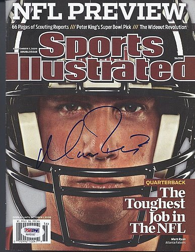Matt Ryan Signed 9/07/09 Sports Illustrated PSA/DNA Authentication - Autographed Golf Memorabilia