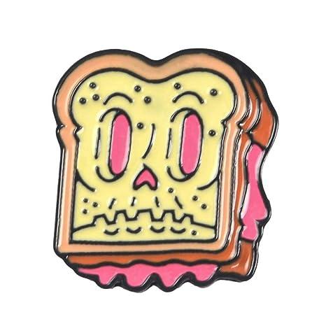 Jtxzd Broche Comida De Dibujos Animados Esmalte Pin Pizza