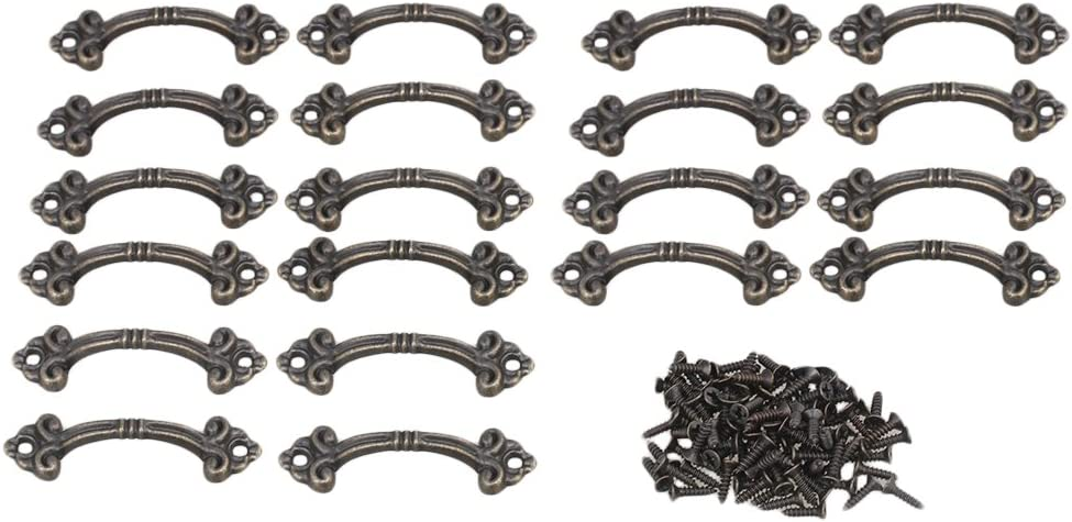 Yibuy - 20 cajones de aleación de zinc, estilo vintage, tiradores de bronce