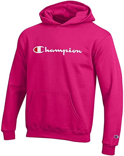 Champion Sweat à capuche homme Classic Script Logo Pullover à Capuche Sweat-shirt Authentic