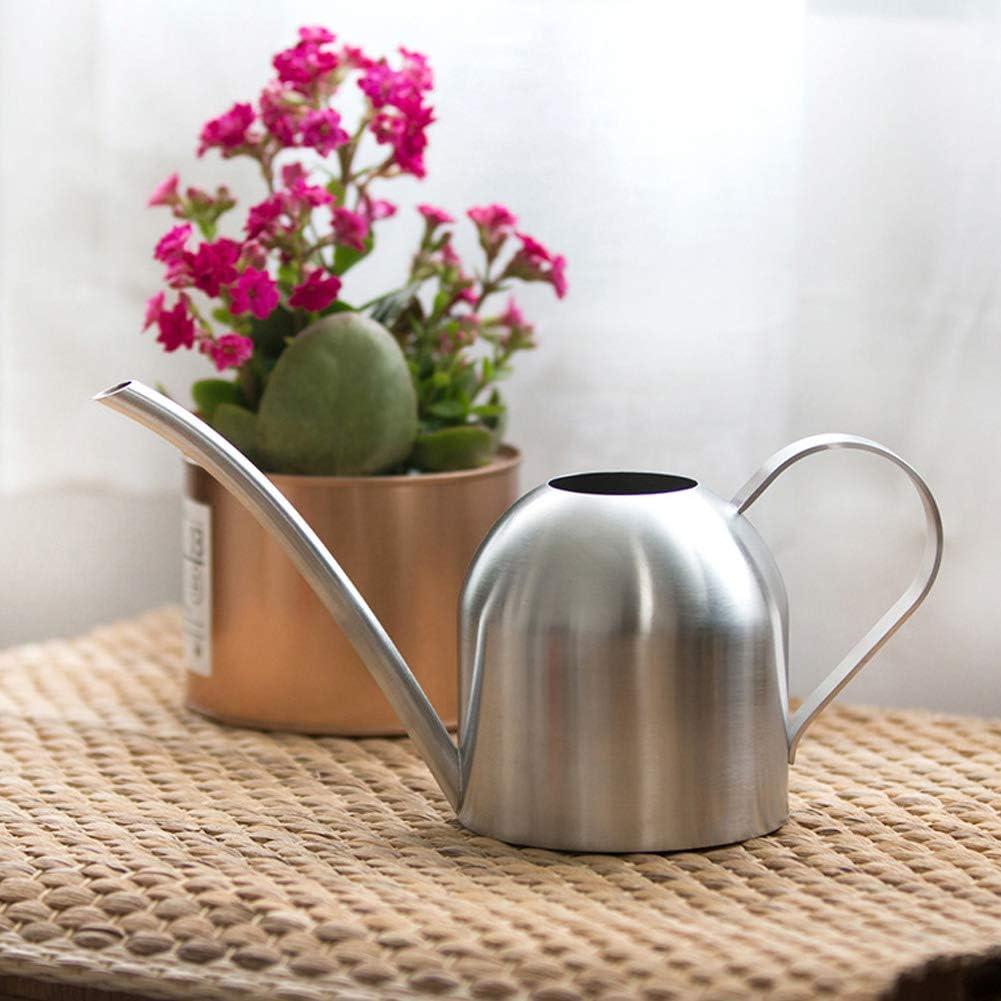 Owlike 1000ml Stainless Steel Indoor Outdoor Watering Can Garden Plant Flower Long Spout Watering Pot