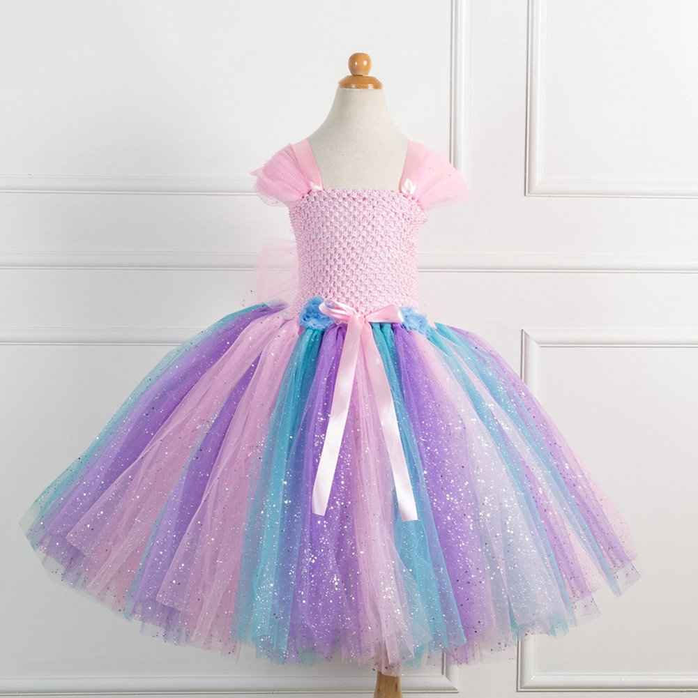 80s Old Fashion Tutu Dress Costumes Dress Up Party Carnival Girls 2pcs Tutu Princess Wedding Dress Set
