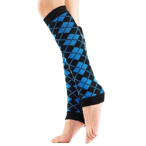 FAMILIZO Calcetines Mujer De Invierno Caliente De Punto Calentadores De Piernas Crochet Leggings Twist Calcetines De Arranque Flexible Tobilleros ...