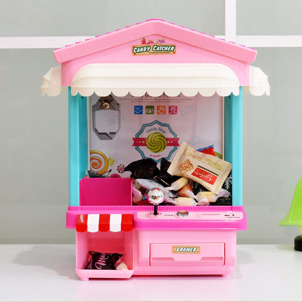 Snow Shop Everything Kids Electronic Claw Toy Grabber Machine Home Arcade w/ Lights & Music & Coins by Snow Shop Everything (Image #7)