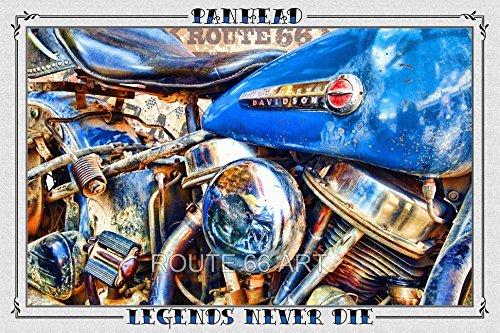 Harley Legend (Harley Davidson Panhead Route 66 Legend Art Print)