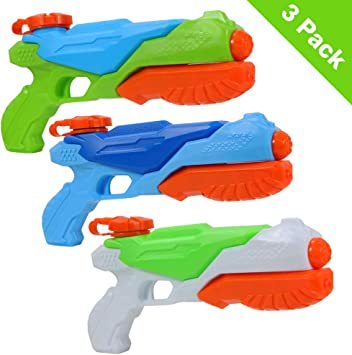 Twister.CK Pistolas de Agua, Paquete de 3 Super Soaker Squirt Gun ...