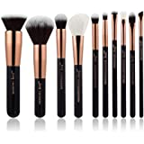 Jessup Brand Black/Rose Gold Professional Makeup Brushes Set Make up Brush Tools kit Foundation Powder Buffer Cheek Shader