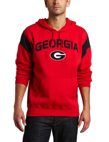 NCAA Men's Georgia Bulldogs Found Of a Champ II Long Sleeve Hooded Fleece Pullover (Athletic Red/Black, X-Large)