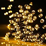 M&T Tech Solar Powered 100 LED Outdoor String Fairy Lights For Patio, Garden, Lawn, Christmas tree, Party, Wedding-Warm White
