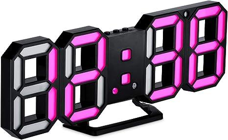 3D LED Digital Alarm Clock Electronic Table Clock Wall Clock Timer Large Number