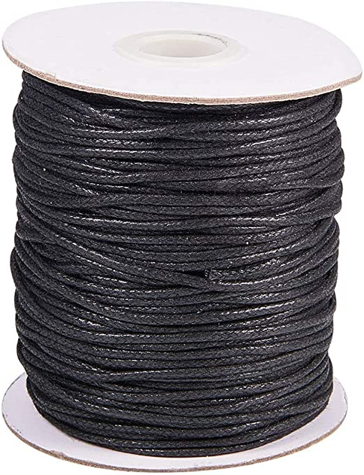 PandaHall 100 Yardas 1.5mm Negro Hilo de cordón de algodón ...
