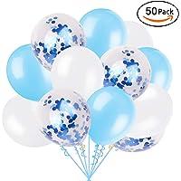Ohighing 50 Stück Luftballons Konfetti Ballons Helium Luftballon für Damen Herren Geburtstag Abschluss Halloween Party Deko Rose Gold Partydeko (ca.30cm)