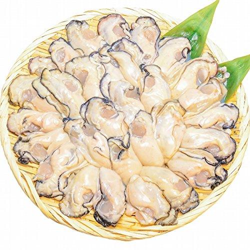 築地の王様 広島産 牡蠣 1kg Lサイズ 1kg 殻剥き不要 小さくならない 加熱用