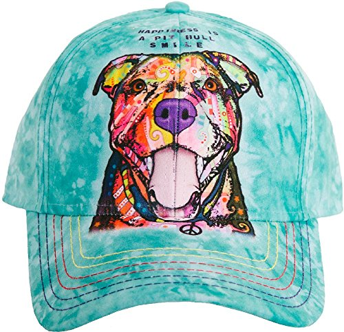 (The Mountain Adult's Pit Bull Smile Baseball Cap, Teal, Adjustable)